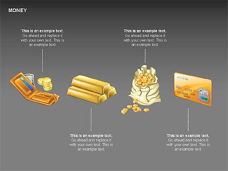Free Money Shapes, Slide 9, 00367, Process Diagrams — PoweredTemplate.com
