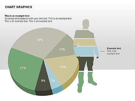 Chart Graphics, Slide 4, 00368, Pie Charts — PoweredTemplate.com