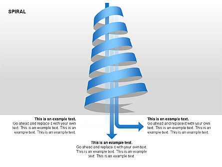 Spiral Process Chart Collection, Slide 2, 00370, Stage Diagrams — PoweredTemplate.com