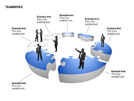 Teamwork Puzzle Donut Diagrams, Slide 11, 00371, Puzzle Diagrams — PoweredTemplate.com