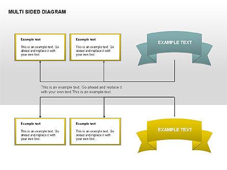 Multisided Diagram, Slide 13, 00374, Stage Diagrams — PoweredTemplate.com