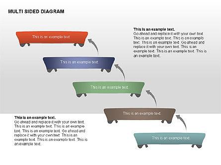 Multisided Diagram, Slide 3, 00374, Stage Diagrams — PoweredTemplate.com