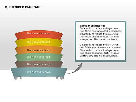 Multisided Diagram, Slide 6, 00374, Stage Diagrams — PoweredTemplate.com