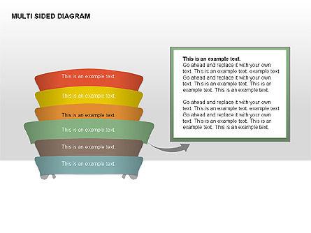 Multisided Diagram, Slide 8, 00374, Stage Diagrams — PoweredTemplate.com