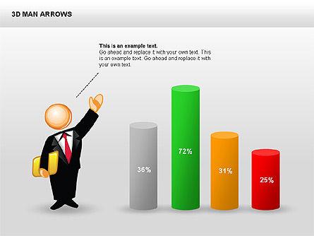 3D Man Arrows, Slide 11, 00375, Shapes — PoweredTemplate.com