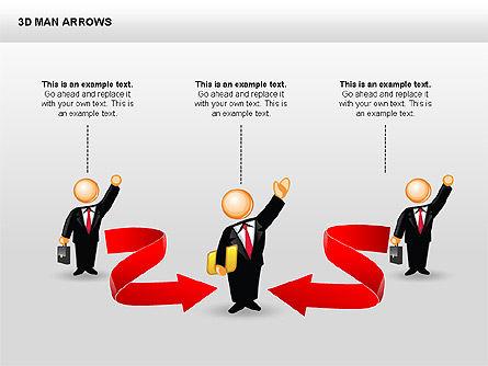3D Man Arrows, Slide 12, 00375, Shapes — PoweredTemplate.com