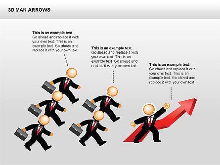 3D Man Arrows, Slide 5, 00375, Shapes — PoweredTemplate.com