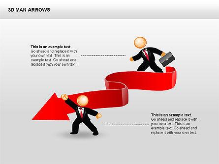 3D Man Arrows, Slide 7, 00375, Shapes — PoweredTemplate.com