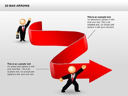 3D Man Arrows, Slide 8, 00375, Shapes — PoweredTemplate.com