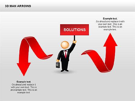 3D Man Arrows, Slide 9, 00375, Shapes — PoweredTemplate.com