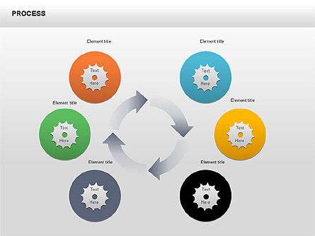 Process Diagrams: Process with Gears Chart Toolbox #00377