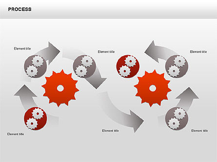 Process with Gears Chart Toolbox, Slide 10, 00377, Process Diagrams — PoweredTemplate.com