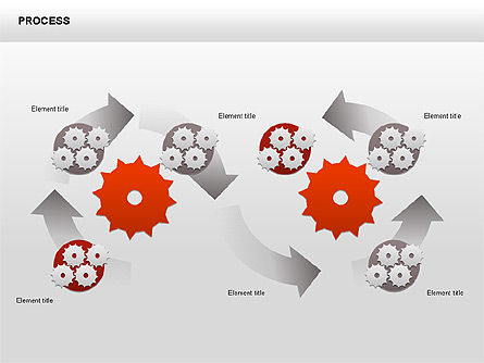 Process with Gears Chart Toolbox, Slide 12, 00377, Process Diagrams — PoweredTemplate.com