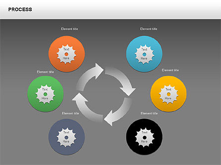 Process with Gears Chart Toolbox, Slide 13, 00377, Process Diagrams — PoweredTemplate.com