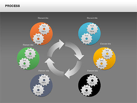 Process with Gears Chart Toolbox, Slide 14, 00377, Process Diagrams — PoweredTemplate.com
