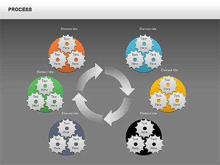 Process with Gears Chart Toolbox, Slide 15, 00377, Process Diagrams — PoweredTemplate.com
