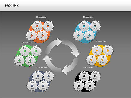 Process with Gears Chart Toolbox, Slide 16, 00377, Process Diagrams — PoweredTemplate.com