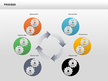 Process with Gears Chart Toolbox, Slide 2, 00377, Process Diagrams — PoweredTemplate.com