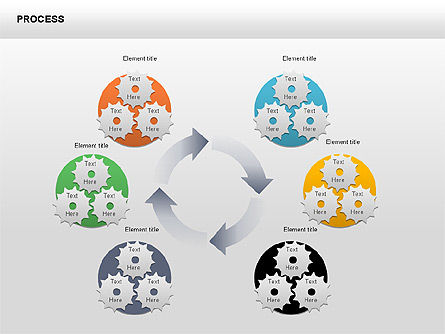 Process with Gears Chart Toolbox, Slide 3, 00377, Process Diagrams — PoweredTemplate.com