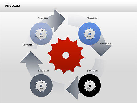 Process with Gears Chart Toolbox, Slide 5, 00377, Process Diagrams — PoweredTemplate.com