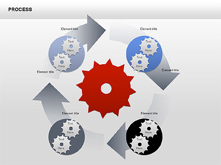 Process with Gears Chart Toolbox, Slide 6, 00377, Process Diagrams — PoweredTemplate.com