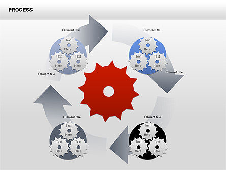 Process with Gears Chart Toolbox, Slide 7, 00377, Process Diagrams — PoweredTemplate.com
