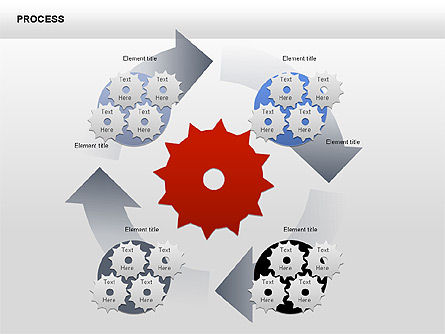 Process with Gears Chart Toolbox, Slide 8, 00377, Process Diagrams — PoweredTemplate.com