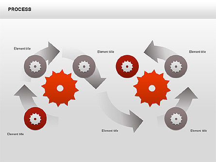 Process with Gears Chart Toolbox, Slide 9, 00377, Process Diagrams — PoweredTemplate.com