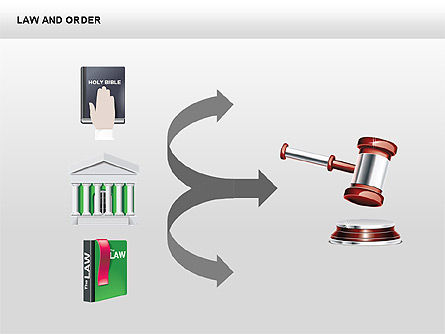 Legal Icons Collection, Slide 14, 00379, Shapes — PoweredTemplate.com