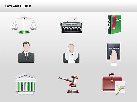 Legal Icons Collection, Slide 15, 00379, Shapes — PoweredTemplate.com