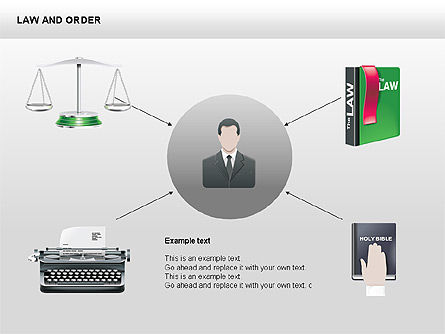 Legal Icons Collection, Slide 2, 00379, Shapes — PoweredTemplate.com