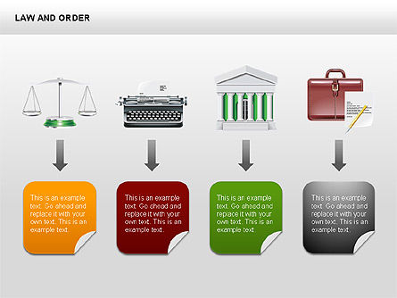 Legal Icons Collection, Slide 5, 00379, Shapes — PoweredTemplate.com