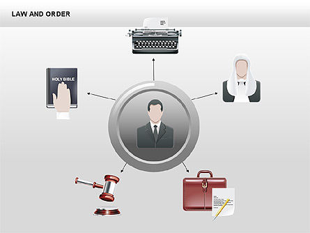 Legal Icons Collection, Slide 9, 00379, Shapes — PoweredTemplate.com