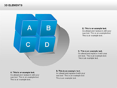 3D Shapes Collection, Slide 10, 00380, Shapes — PoweredTemplate.com