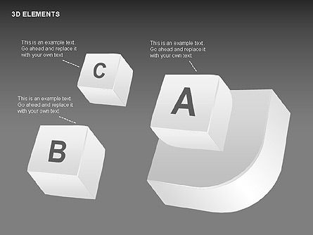 3D Shapes Collection, Slide 12, 00380, Shapes — PoweredTemplate.com