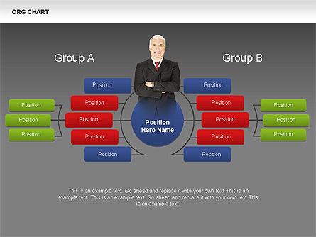 Organizational Charts with Photos, Slide 11, 00382, Organizational Charts — PoweredTemplate.com