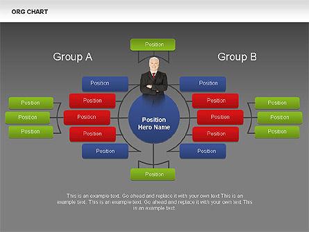 Organizational Charts with Photos, Slide 12, 00382, Organizational Charts — PoweredTemplate.com