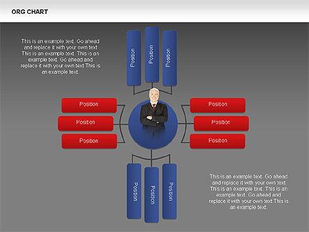 Organizational Charts with Photos, Slide 13, 00382, Organizational Charts — PoweredTemplate.com