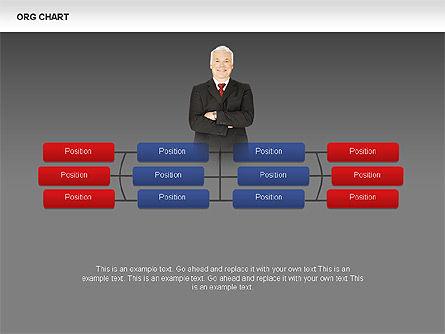 Organizational Charts with Photos, Slide 14, 00382, Organizational Charts — PoweredTemplate.com