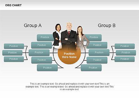 Organizational Charts with Photos, Slide 2, 00382, Organizational Charts — PoweredTemplate.com