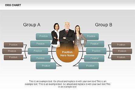 Organizational Charts with Photos, Slide 3, 00382, Organizational Charts — PoweredTemplate.com