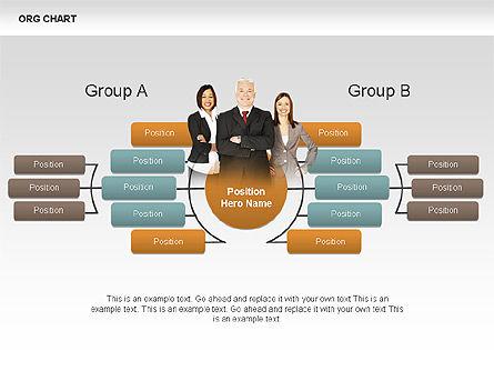 Organizational Charts with Photos, Slide 4, 00382, Organizational Charts — PoweredTemplate.com