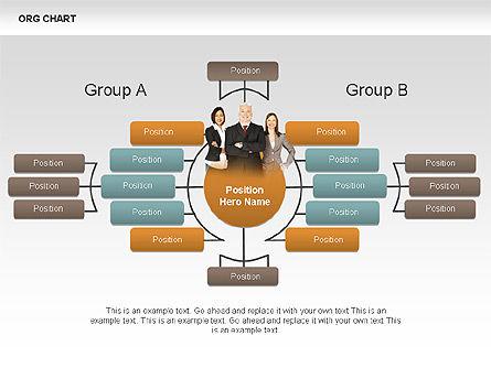 Organizational Charts with Photos, Slide 5, 00382, Organizational Charts — PoweredTemplate.com