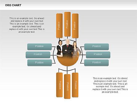 Organizational Charts with Photos, Slide 6, 00382, Organizational Charts — PoweredTemplate.com