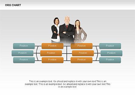 Organizational Charts with Photos, Slide 7, 00382, Organizational Charts — PoweredTemplate.com