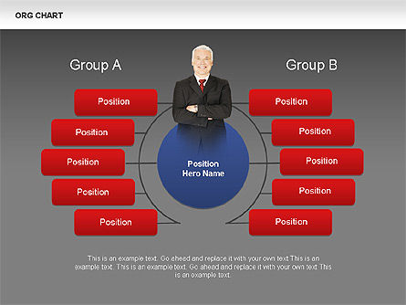 Organizational Charts with Photos, Slide 8, 00382, Organizational Charts — PoweredTemplate.com