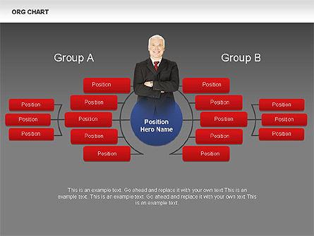 Organizational Charts with Photos, Slide 9, 00382, Organizational Charts — PoweredTemplate.com