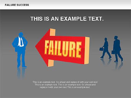 Failure and Success Diagrams, Slide 10, 00383, Silhouettes — PoweredTemplate.com