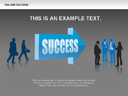Failure and Success Diagrams, Slide 11, 00383, Silhouettes — PoweredTemplate.com