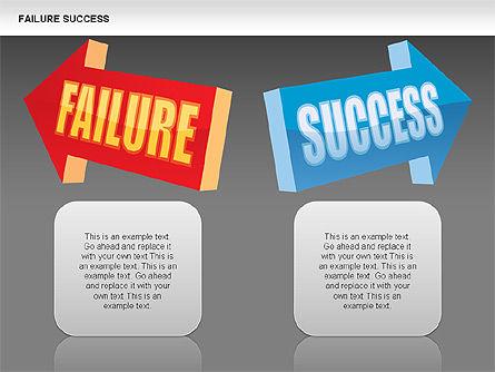 Failure and Success Diagrams, Slide 12, 00383, Silhouettes — PoweredTemplate.com